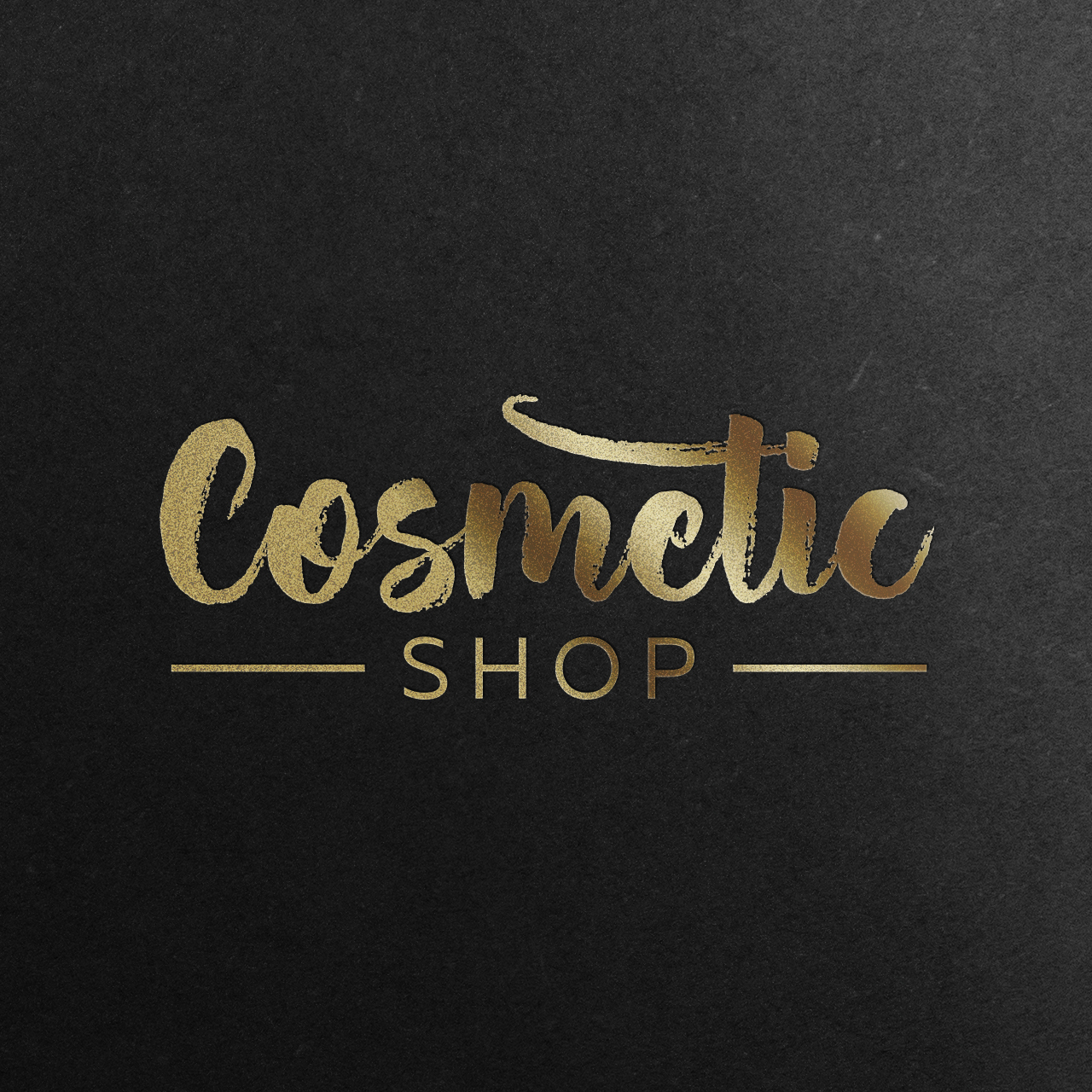 cosmetic shop-logo-mockup-gold