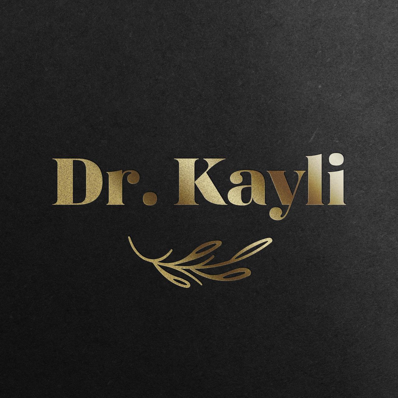 dr kayli-logo-mockup-gold