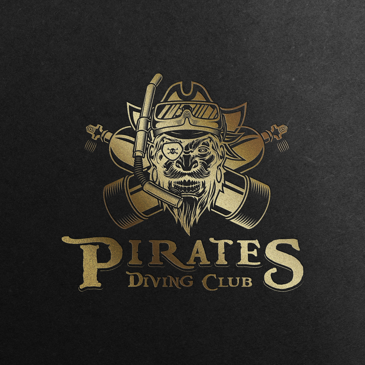pirates diving club-logo-mockup-gold